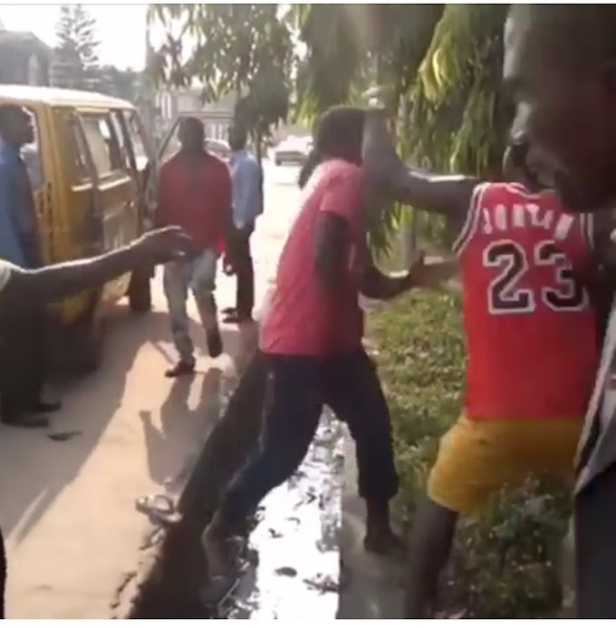 Bus Conductor And Driver Exchange Blows Over Money And This Happened***Photos/ Video***
