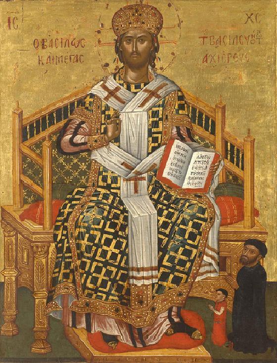 Χριστός Ένθρονος (τέλη 16ου αι. Βυζαντινό Μουσείο Βενετίας)