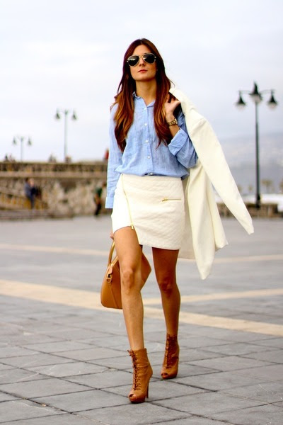Ivyrevel skirt - PERSUNMALL coat - Zara shirt - Stradivarius heels