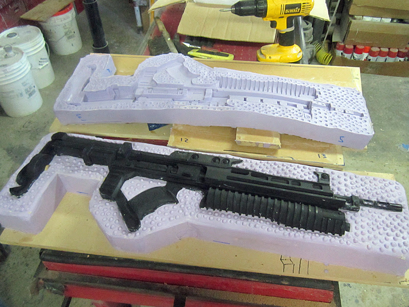 Helghast Rifle Mold Opened