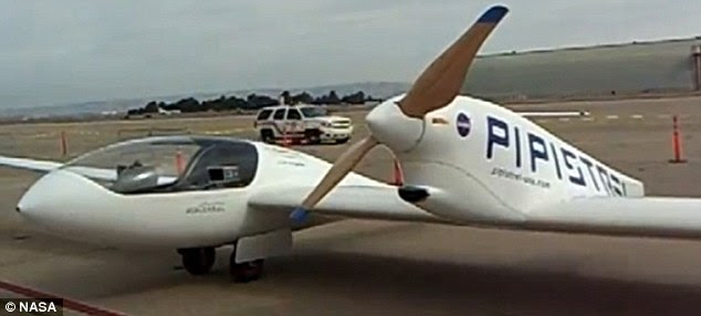 On the ground: The Taurus G4  is a twin fuselage design, meaning  it has two cockpits either side of a large central propeller