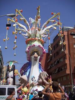 Fiesta de las Hogueras en Alicante.
