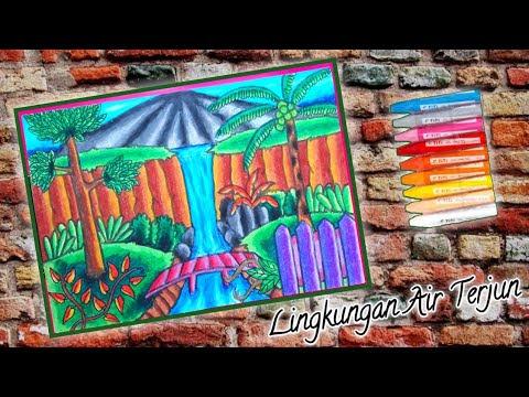 Watching Video Cara Menggambar Air Terjun Yang Indah Dengan Warna