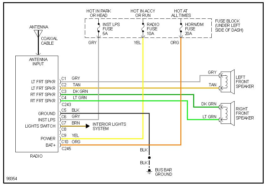 31 1995 Chevy Silverado Radio Wiring Diagram