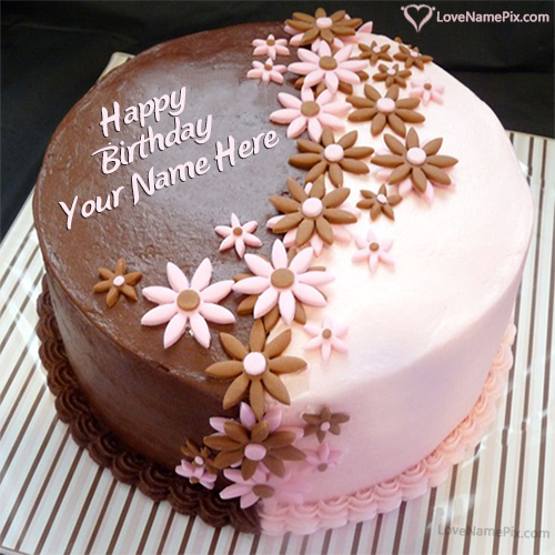 Birthday Cake Pic With Name Sf Wallpaper