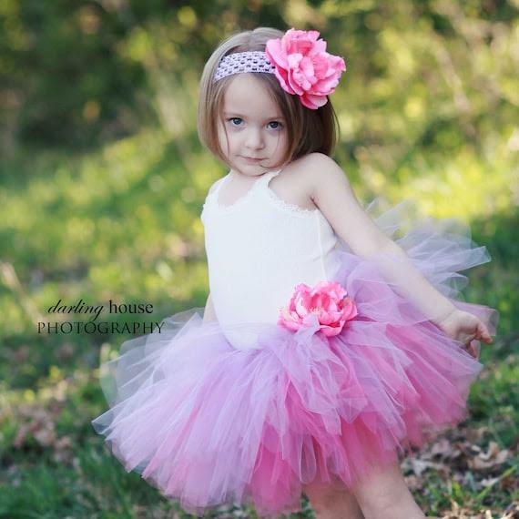 Pink Flower headband, girls rose garden photo prop hair accessory, handmade infant to toddler size- ROSEGARDEN