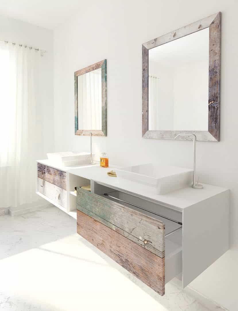 Weathered Wood Look Bathroom Vanities: Stunningly Beautiful