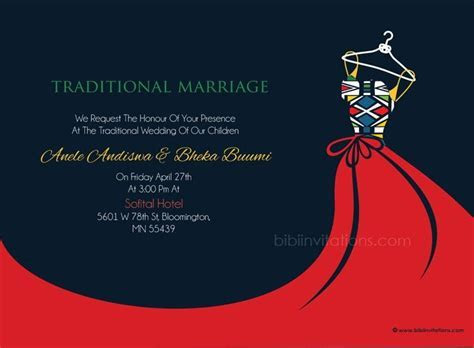 Busisiwe Ndebele Traditional Wedding Invitation in 2019