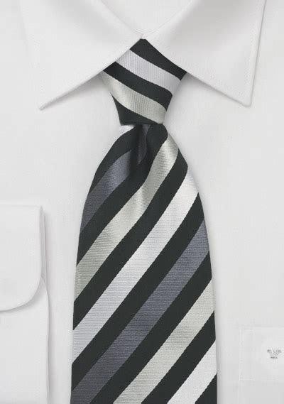 Elegant Striped Tie in Black Silver   ties shop   fine stripes