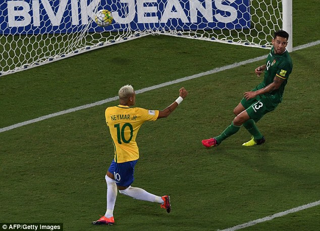 Neymar slots home the opener as Brazil continued their fine start under new coach Tite