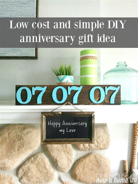 DIY and low cost anniversary gift ideas ? Our House Now a Home