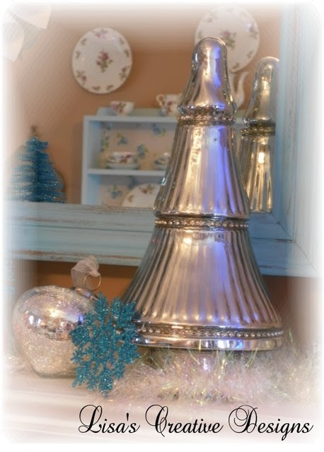 Mercury Glass Christmas Tree  Traditional  Living Room  raleigh