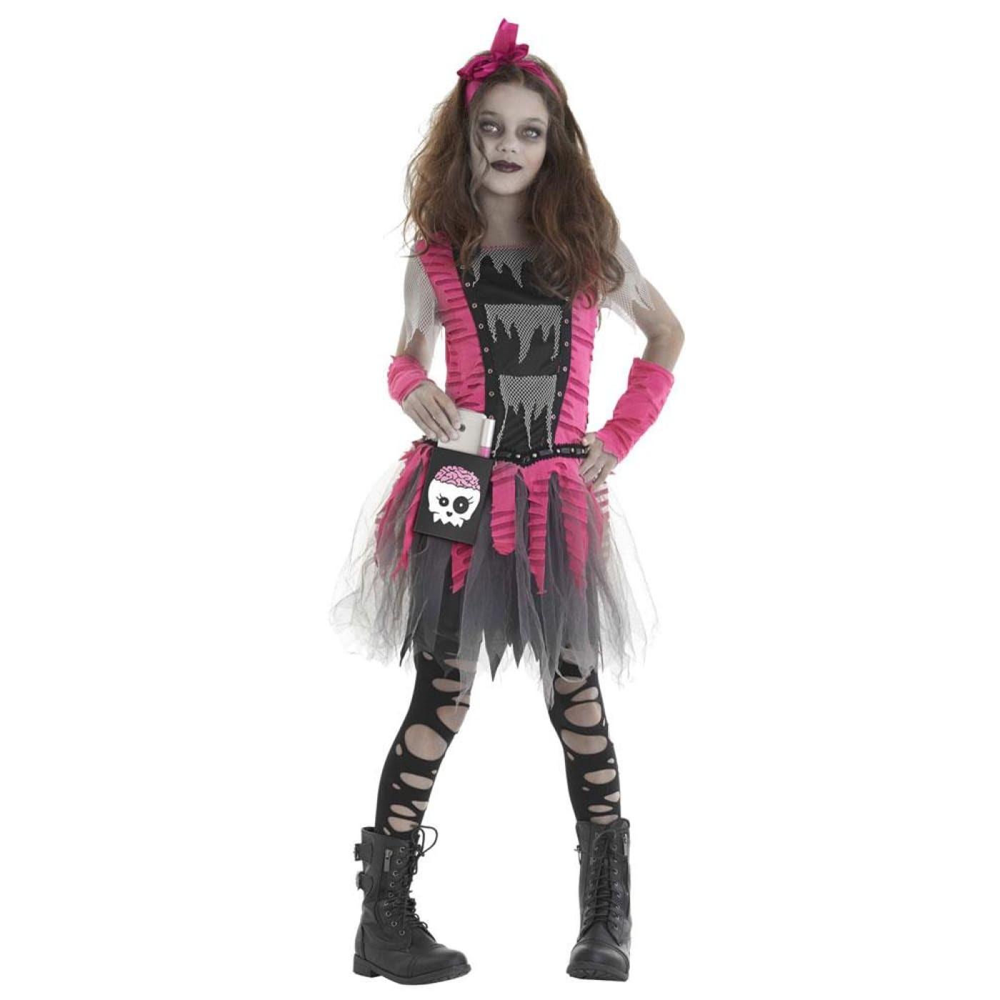 Zombie Girl Kids Costume Large