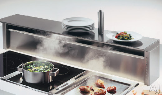 Gaggenau 400 Series AT400700 Downdraft Ventilation System with 465 CFM Internal Blower, 3 Fan Levels, Intensive Mode, Delayed Shut-Off and Recirculating: 42 in.