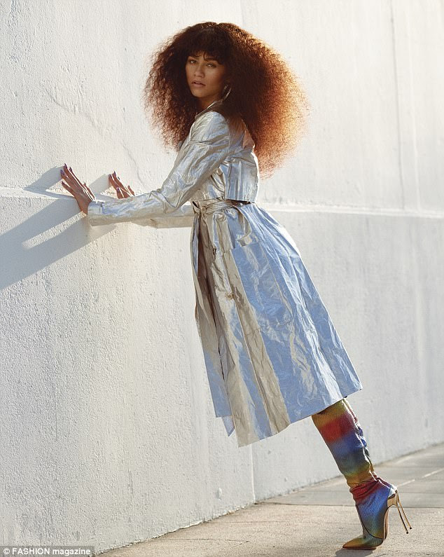Sober: Zendaya revealed to the mag that her 21st birthday bash last September was quite a subdued affair at her house with family and friends and she did not drink a drop of alcohol