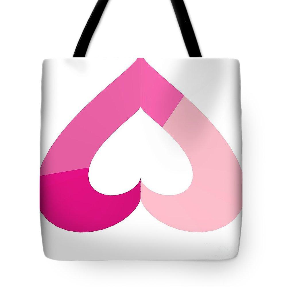 Love Upside Down Tote Bag featuring the digital art Love Upside Down by Michael Skinner
