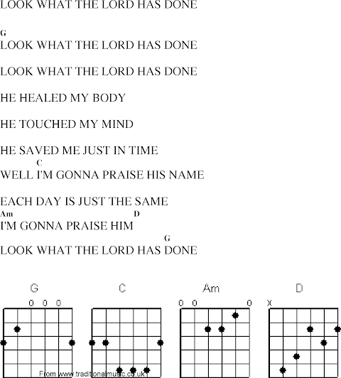 Look What The Lord Has Done Lyrics And Chords