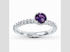 Stackable Ring Amethyst Sterling Silver   Womens Rings   Rings   Kay