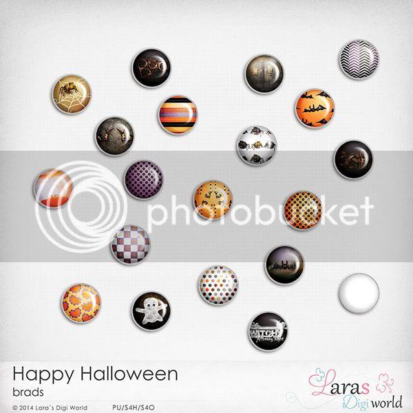 Happy Halloween Brads