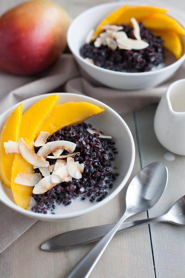 Black Rice Pudding with Coconut and Mango | Bourbon and Honey