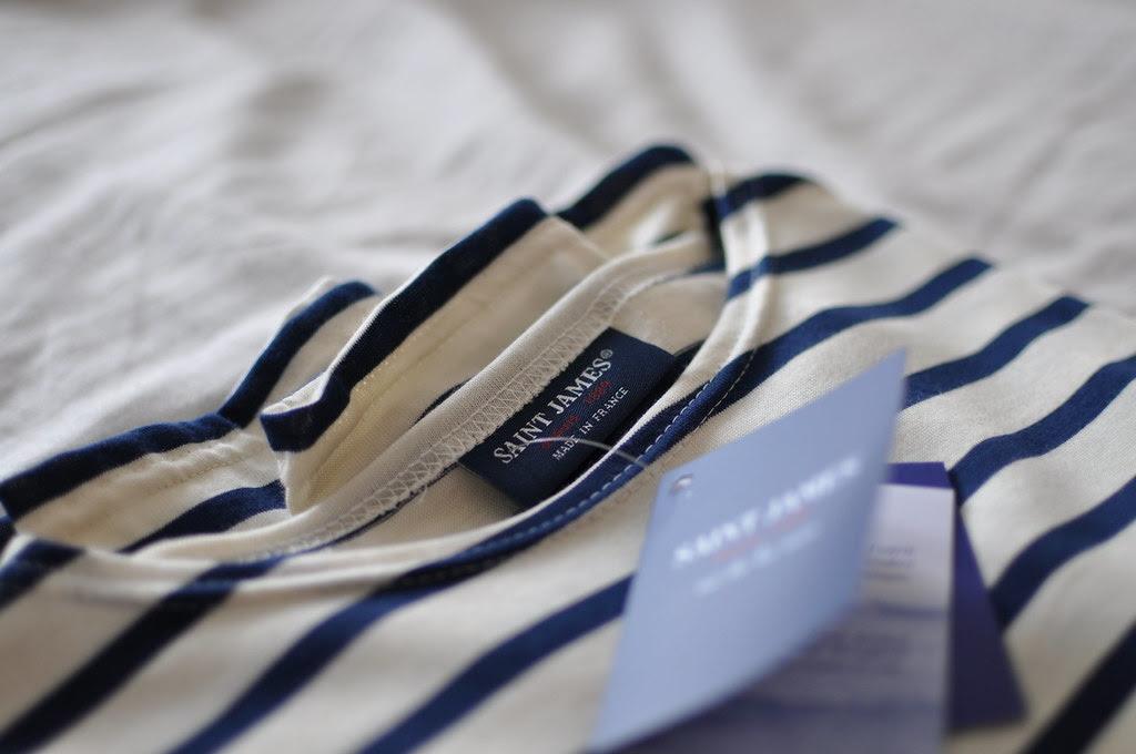 saint james striped shirt