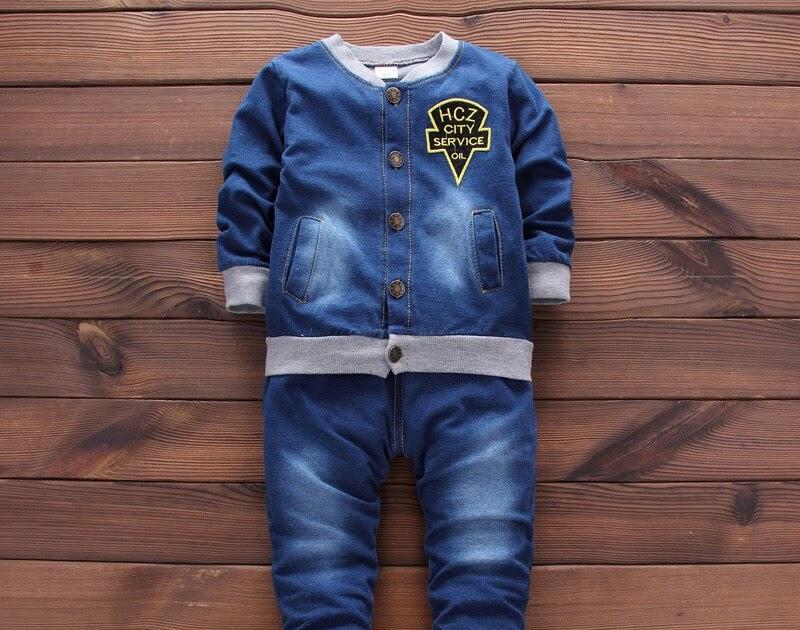 66f7f392a7e Comprar Conjunto De Ropa Bebé Recién Nacido Denium Signle Breasted 2 Unids  set (abrigo + Jeans) Online Baratos ~ chocolatecoatingwith-marshmallows
