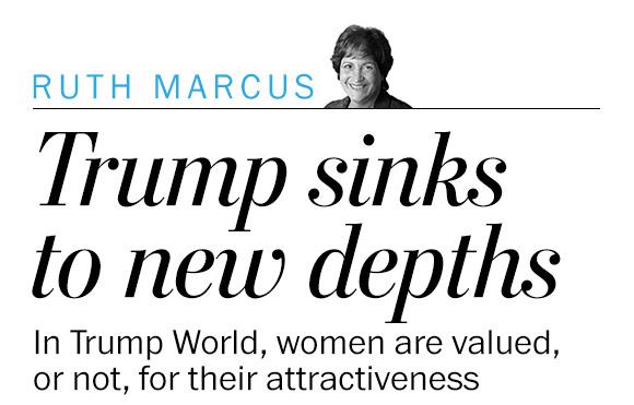@realDonaldTrump sinks to new depths