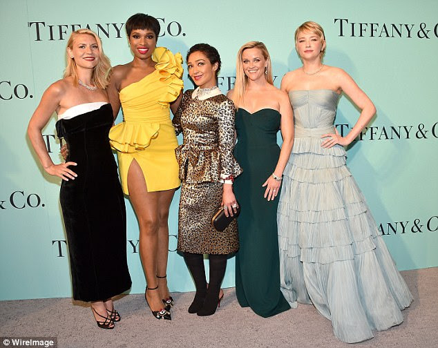 Famous friends: Jennifer (second left) posed for photos alongside (L-R) Claire Danes, Ruth Negga, Reese Witherspoon and Haley Bennett