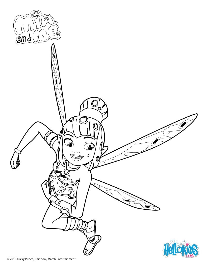 Yuko in Action coloring page