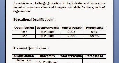 Diploma Resume Format Pdf Best Resume Examples