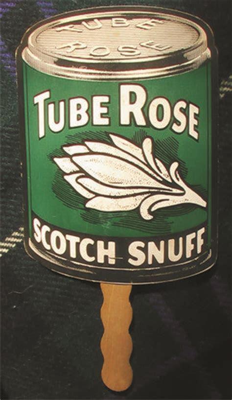 vintage Tube Rose Scotch Snuff Tobacco Advertising Fan