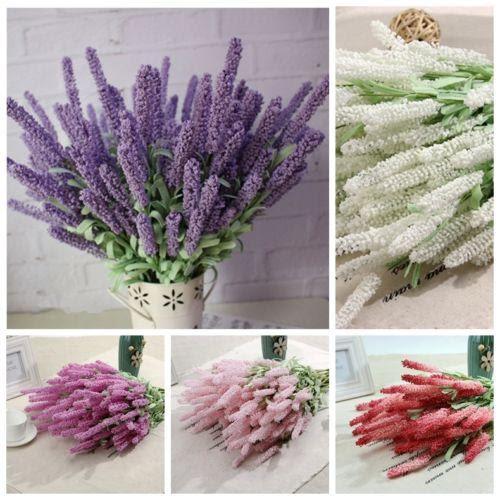 1 Bouquet Artificial Lavender Silk Flower Bridal Bouquets For Garden Wedding Fake Flower Floral