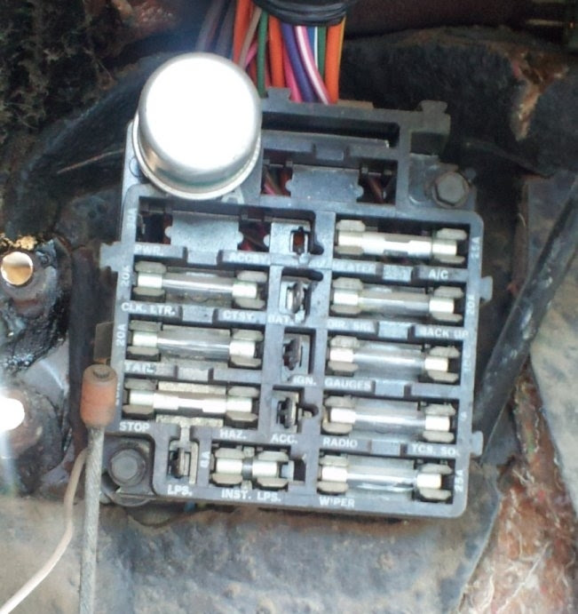 67 Chevy Truck Fuse Box