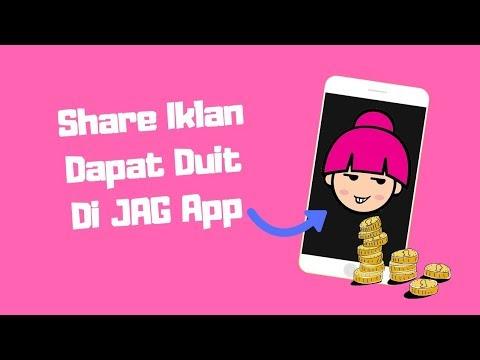 Buat Duit Online Dengan JAG App - Share Iklan Di Media Sosial