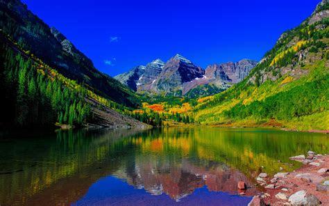 wallpaper maroon bells peaks elk mountains colorado   nature  wallpaper