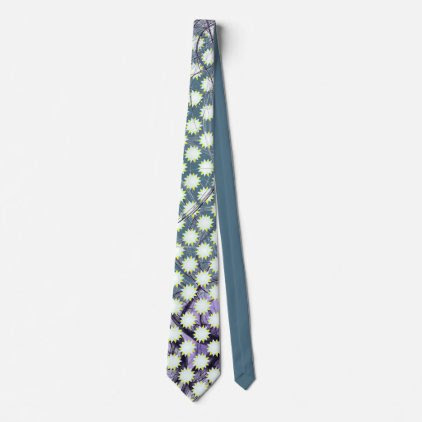 Friendly White and Yellow Stars on grey blue Tie