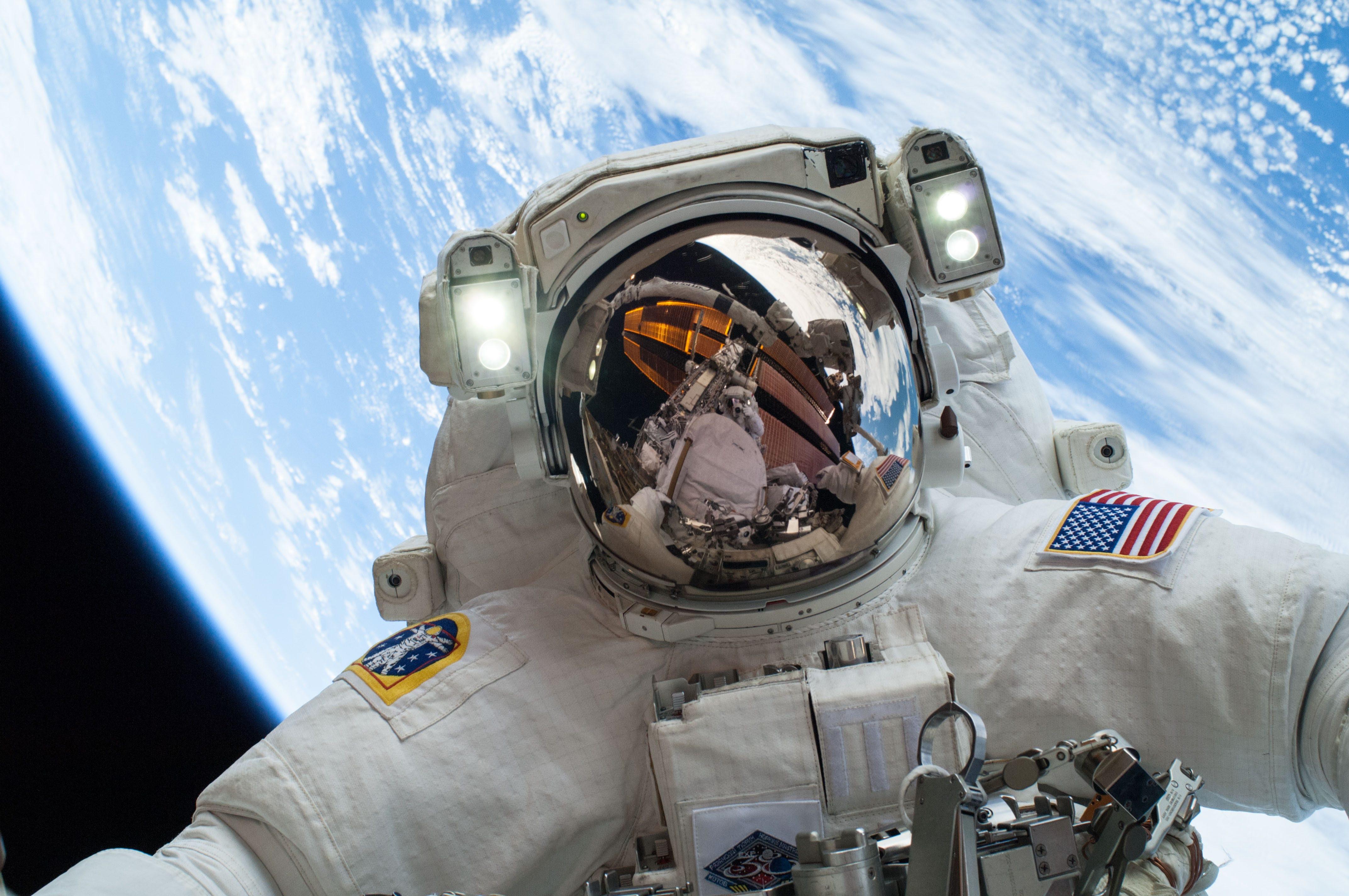 astronaut selfie photo space nasa