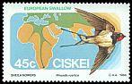 Cl: Barn Swallow (Hirundo rustica) SG 63 (1984) 45