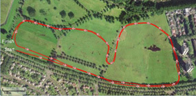 Bellahouston 4k Cross Country Route