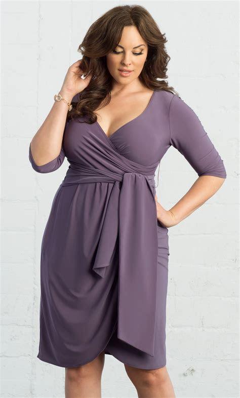 Plus Size Formal Dresses   Harlow Faux Wrap   Kiyonna