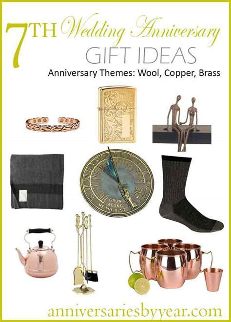 7th Anniversary   Seventh Wedding Anniversary Gift Ideas