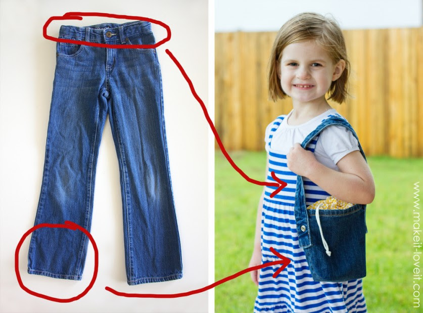Очередные переделки: джинсовые сумки