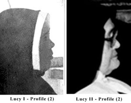 Different profiles of the two Sister Lucy's