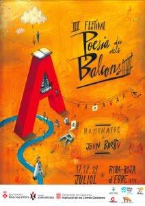 cartell III Festival Poesia des dels Balcons Riba-roja d'Ebre
