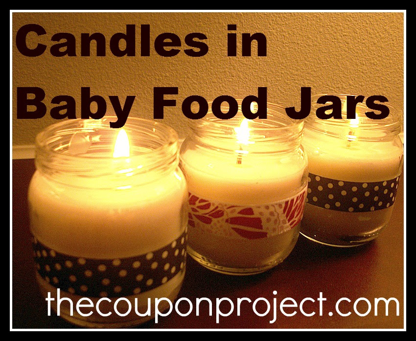 Love: in a Jar = Candles in Baby Food Jars