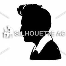 横顔の男性シルエット イラストの無料ダウンロードサイトシルエットac