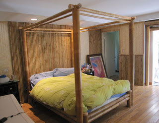 Quality Bamboo And Asian Thatch 4 Poster Bed Canopy Bed