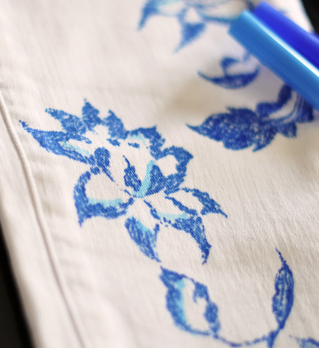 DIY floral jeans-8-1