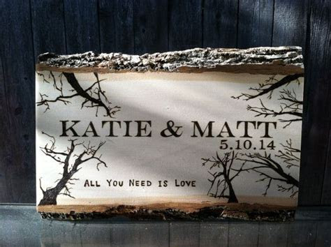 Wood Burned Wedding Gift Personalized Sign by