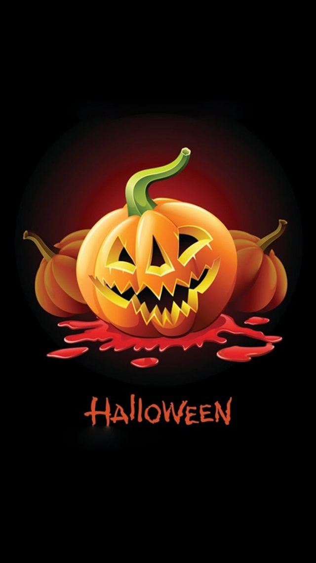 halloween art iphone wallpaper